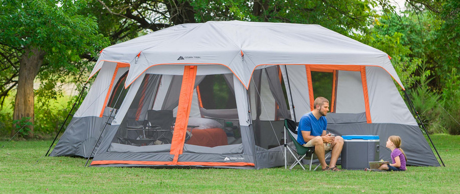 ozark trail 12 person instant cabin tent